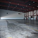 Hangar 8 North side interior